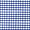 "Polycotton Fabric 1/4"" Gingham Royal Blue"