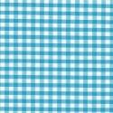 "Polycotton Fabric 1/4"" Gingham Turquoise"