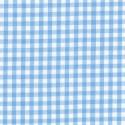 "Polycotton Fabric 1/4"" Gingham Sky Blue"