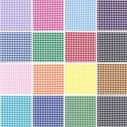 "Polycotton Fabric 1/8"" Gingham Check Material Dress Craft School Uniform"