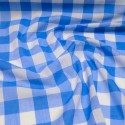 """1"""" Checked Gingham Polycotton Fabric Royal Blue"""