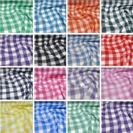"Polycotton Fabric 1"" Gingham Check Dress Craft Summer School Uniform"