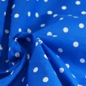 Pea Spot Polka Dots Spots Polycotton Fabric Royal Blue