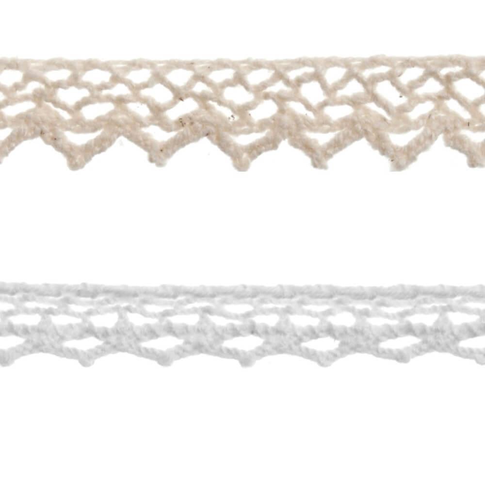 Cotton Lace Ribbon White