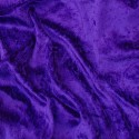 Crushed Velour Velvet Fabric Craft Dress Purple