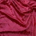 Crushed Velour Velvet Fabric Craft Dress Wine