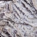 Crushed Velour Velvet Fabric Craft Dress Silver Grey