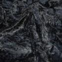Crushed Velour Velvet Fabric Craft Dress Black