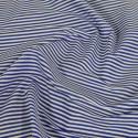 3mm Candy Stripes On White Polycotton Fabric Royal Blue