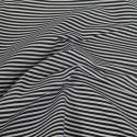 3mm Candy Stripes On White Polycotton Fabric Black