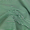 3mm Candy Stripes On White Polycotton Fabric Green