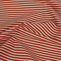 3mm Candy Stripes On White Polycotton Fabric Red
