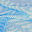 3mm Candy Stripes On White Polycotton Fabric Turquoise