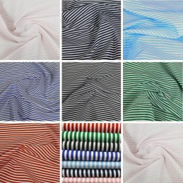 Polycotton Fabric 3mm Candy Stripes Craft Stripe Dress Striped Material
