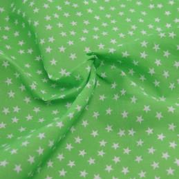 Polycotton Fabric Mini Stars 10mm Craft Dress Material Lime Green