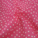 Polycotton Fabric Mini Stars 10mm Craft Dress Material Pink