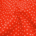 Polycotton Fabric Mini Stars 10mm Craft Dress Material Red
