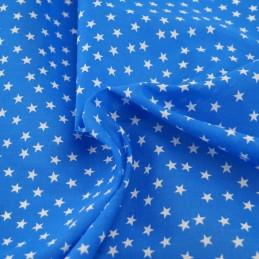 Polycotton Fabric Mini Stars 10mm Craft Dress Material Blue