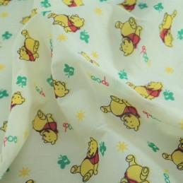 Polycotton Fabric Winnie The Pooh Yellow