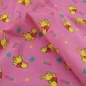 Polycotton Fabric Winnie The Pooh Pink
