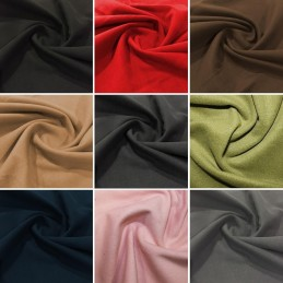 Washable Wool Fabric Polyester Viscose Soft Brushed Style 150cm Wide