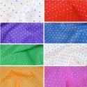 Polycotton Fabric Pin Spot Polka Dots Dotty Dress Craft Poly Cotton