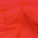 Polycotton Fabric Pin Spot Polka Dots Dotty Dress Craft Red