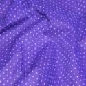 Polycotton Fabric Pin Spot Polka Dots Dotty Dress Craft Purple
