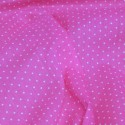 Polycotton Fabric Pin Spot Polka Dots Dotty Dress Craft Cerise