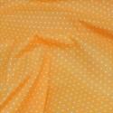 Polycotton Fabric Pin Spot Polka Dots Dotty Dress Craft Orange