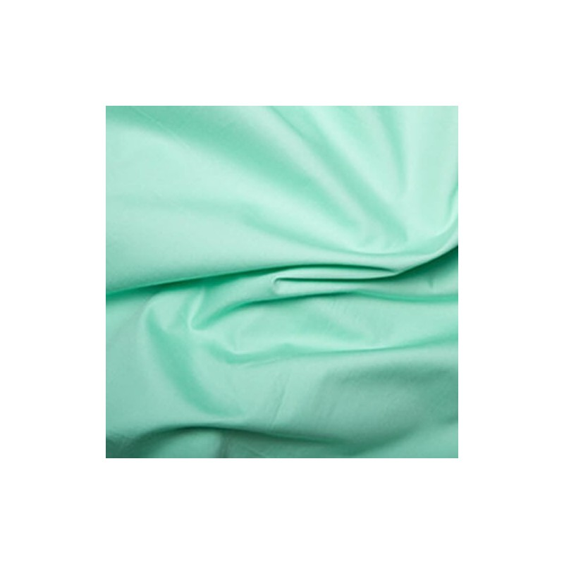 100% Plain Cotton Poplin Fabric Rose & Hubble Pistachio