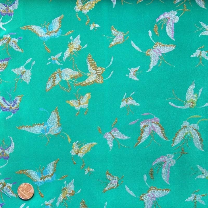 Brocade Butterflies Green