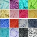 100% Cotton Poplin Fabric Rose & Hubble 7mm Polka Dots Spots