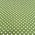 100% Cotton Poplin Fabric Rose & Hubble 7mm Polka Dots Spots Green