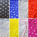 100% Poplin Cotton Fabric Rose & Hubble 20mm Stars Star