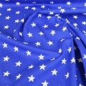 100% Poplin Cotton Fabric Rose & Hubble 20mm Stars Star Royal Blue