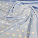 100% Poplin Cotton Fabric Rose & Hubble 20mm Stars Star Pale Blue