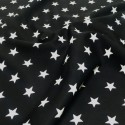 100% Poplin Cotton Fabric Rose & Hubble 20mm Stars Star Black