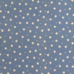100% Cotton Poplin Fabric Rose & Hubble 3mm Stars & Spots Blue