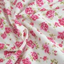 100% Cotton Poplin Fabric Rose & Hubble Roses Summer Happiness Ivory