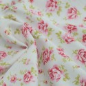 100% Cotton Poplin Fabric Rose & Hubble Roses Summer Happiness Mint