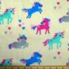 Super Soft Cuddle Fleece Unicorns and Hearts 147cm Wide