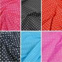 Polycotton Fabric 4mm Spots Polka Dots Spotty Craft Dress
