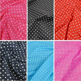 Polycotton Fabric 4mm Spots Polka Dots Spotty Craft Dress
