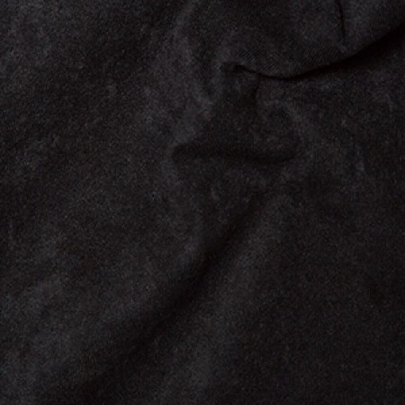 Faux Suede Look Polyester Black