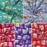 100% Cotton Poplin Fabric Rose & Hubble VW Camper Van Vehicles In Lines