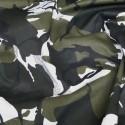 Arctic Camouflage 100% Cotton Drill Fabric
