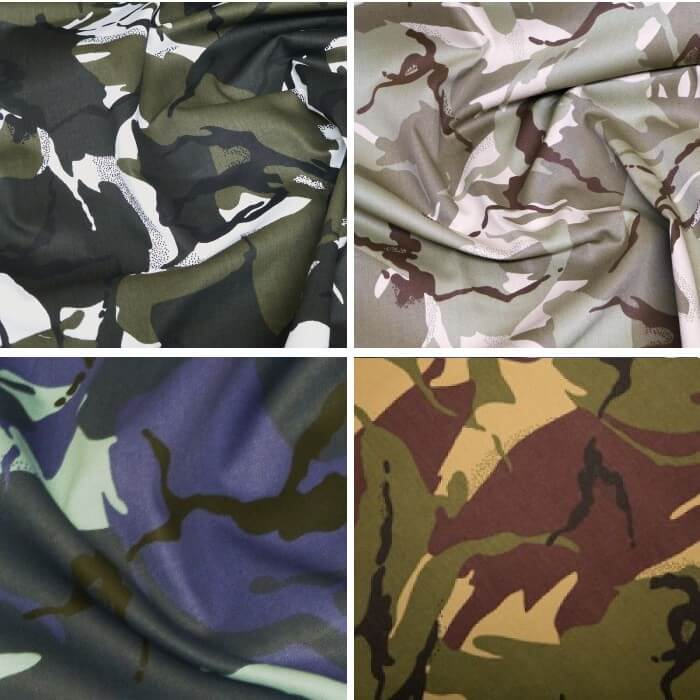 Jungle Camouflage 100% Cotton Drill Fabric