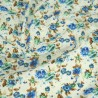 Polycotton Fabric Peony Floral Flowers