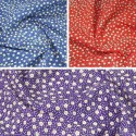 Flowerheads and Spots Polycotton Fabric